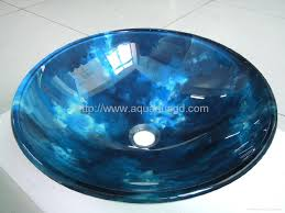 blue tempered glass vessel sinks aq2114 3