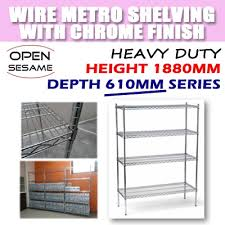 wire metro shelving with chrome finish depth 610mm series boltless rack for hdb