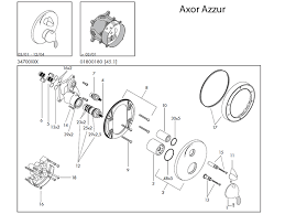 hansgrohe axor azzur shower valve spares 34700 spares breakdown diagram