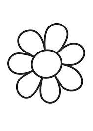 Kleurplaat Bloem Simple Flower Lente Bloem Kleurplaten Bloem