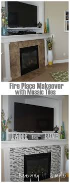 Tile Fireplace Makeover Best 10 Simple Fireplace Ideas On Pinterest Wood Mantle White