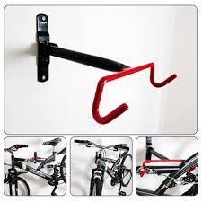 Mtb Bike Design Bicycle Wall Mounted Garage Rack Mtb Bike Storage Hanger Hook Compact Design Solid Steel Support Rack Hook Bicycle Display Stand