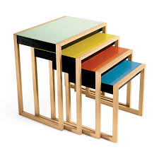 Nesting furniture Convenient Nesting Tables In Color Moma Design Store Nesting Tables Moma Design Store