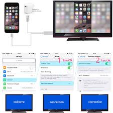 lightning to hdmi cable iphone ipad cellular to tv