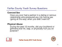 Fairfax County Youth Survey Questions