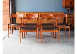 set of 6 hong stolefabrik dining chairs in teak designed by erik kirkegaard 1950s