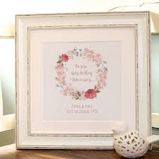 personalised ruby wedding anniversary canvas print