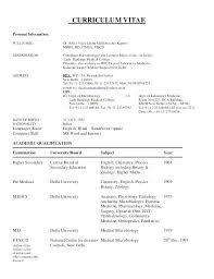Junior Doctor Resume Best Photos Medical Template Curriculum Vitae ...
