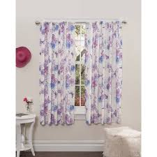 Mainstays Paris Lavender Girls Bedroom Curtains Set Of Two