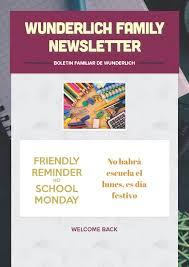 family newsletter family newsletter wunderlich intermediate school