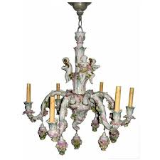 two tier meissen porcelain chandelier with birds and flower decorations at 1stdibs