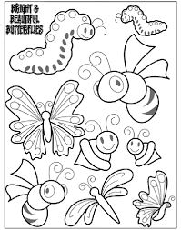 View and print full size. Bright And Beautiful Butterflies 2 Coloring Page Crayola Com