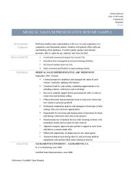 Medical Sales Representative Online Resume Builders Medium