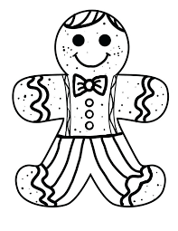 Gingerbread Man Color Page Gingerbread Man Coloring Pages Coloring
