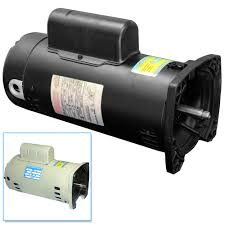 56y pool pump motor 1 hp square black almond