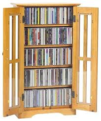 cd dvd cabinet with glass doors wood storage attractive oak dame library style ideas you had