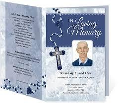 funeral mass program crucifix funeral program template 3 colors creative memorials