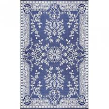 immediately outdoor rug 6x9 mad mats oriental garland dark blue sku fm oga69 db