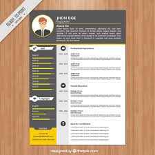 Programmer resume template Free Vector