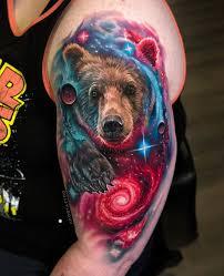 Space Bear Best Tattoo Design Ideas