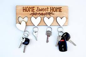 wooden key holder, wall key holder, and key holder for wall image
