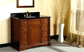 60 inch bathroom vanity antique cherry with imperial brown granite top and double sinks without