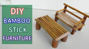 how to make bamboo furniture. DIY Bamboo Stick Furniture : Mini Sofa And Table #5 How To Make