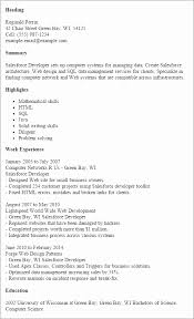 Front End Developer Resume New Glamorous Java Front End Developer Resume Resume Design
