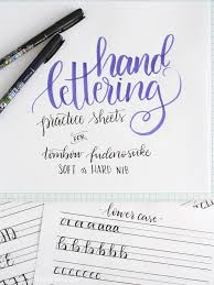 Letter Practicing Free Printable Hand Lettering Practice Sheets Liz On Call