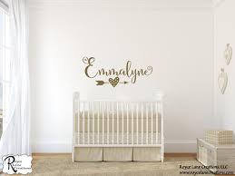 baby girl nursery decor name decal