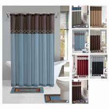Tan Bathroom Rugs Black And Tan Damask Shower Curtain