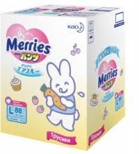 Трусики-подгузники Merries (L), 9-14 кг, 88 штук | Купить с ...