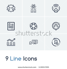 Hr Icon Set Conflict Management Coherence Stock Vector 1130017205 ...