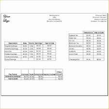 Payroll Stubs Templates Beauteous Pay Stub For Employee Sample Pay Stubs A Of Stub With White