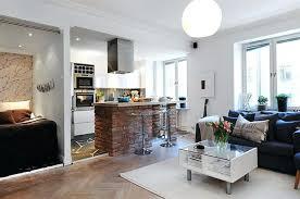 open living room design modern open kitchen
