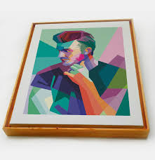 david beckham pop art canvas painting floater frame