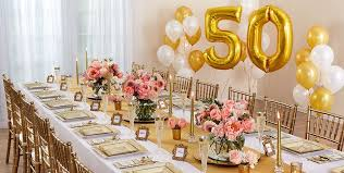golden 50th anniversary party supplies
