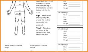 Hand Picked Free Body Measurement Chart Template Body