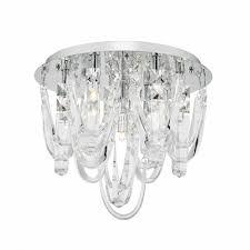 roxanne flush 7 light chrome and crystal ceiling light