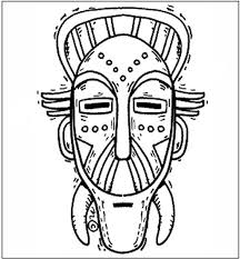 Small Picture Free African Mask Coloring Pages African Mask Coloring Page