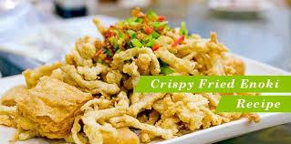 Jamur tiram•tepung sajiku•penyedap masak•air putih•minyak. Resep Jamur Enoki Goreng Crispy Orami