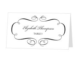 flat place cards avery place card template