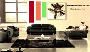 perfect paint color for your black leather sofa black leather sofa perfect