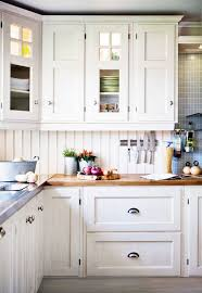 white country kitchen with butcher block. Norwegian Country Kitchen White With Butcher Block D
