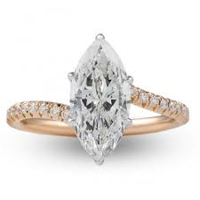 1 75 Ct Marquise Diamond Rose Gold Engagement Ring