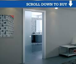 glass pocket door kit 100mm wall