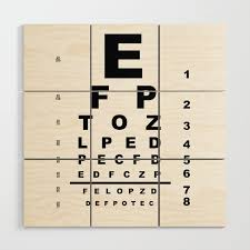 Eye Test Chart Wood Wall Art By Homestead
