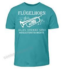 Shirtee Flügelhorn Shirt Musiker Blasmusik Musik