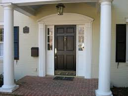 entry door kick plates. decoration inspiring entry door trim molding with polished brass handles and solid kick plates r