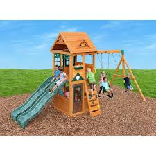 Cedar Summit Westbury Wooden Play Set Outdoor Spaces And Spaces Cedar Play Teepee A How To